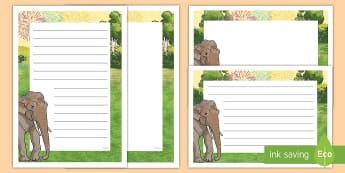 Songkran Page Border Pack - Signs and Labels, page borders, writing, inspiration, songkran, elephant,