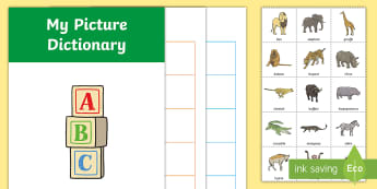 African Animals Picture Dictionary Booklet - African Animals Picture Dictionary Booklet - dictionary,africa, african, aniamls, booklet, dictionar
