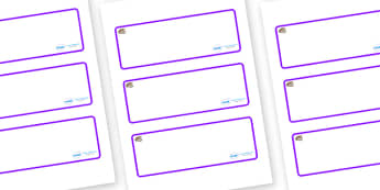 Oyster Themed Editable Drawer-Peg-Name Labels (Blank) - Themed Classroom Label Templates, Resource Labels, Name Labels, Editable Labels, Drawer Labels, Coat Peg Labels, Peg Label, KS1 Labels, Foundation Labels, Foundation Stage Labels, Teaching Label