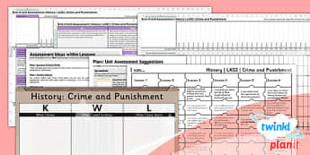 PlanIt - History LKS2 - Crime and Punishment Unit Assessment Pack - planit, history