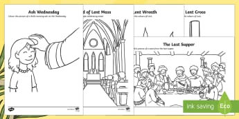 Lent Colouring Pages - Lent, Ash Wednesday, Holy Saturday, Holy Sunday, Good Friday, Church, Stations of the Cross, Jesus,