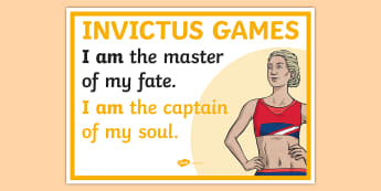 Invictus Games I am Display Poster - paralympics, paralympians, veterans, athlete, athletics, events, wheelchair, disabled