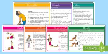 Pack: Yoga para niños   - Yoga, yoga para niños, posturas de yoga, educación física, ejercicios de yoga, español
