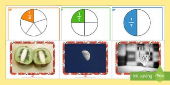 ملصقات الكسور  - حساب، رياضيات، الكسور، الكسور المكافئة، كسور، ملصقات،