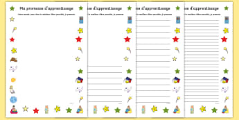 Feuille d'activités : Ma promesse d'apprentissage - Rentrée, école, apprendre, contrat,cycle 1, cycle 2, premier jour, écriture, écrire, writing,Fre