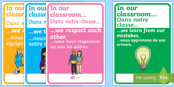 In Our Classroom Display Posters English/French - In Our Classroom Display Posters - in our classroom poster, in our classroom posters, in our classro