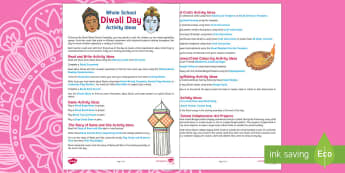 Whole School Diwali Themed Day Activity and  Teaching Ideas - Divali, Celebration, Hindu, Festival, Activities