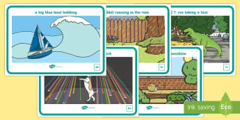 Alliteration Nonsense Display Posters - EYFS, Phase 1, Aspect 5, Alliteration, letters and sounds, phonics, b, d, r, s, t, phoneme,