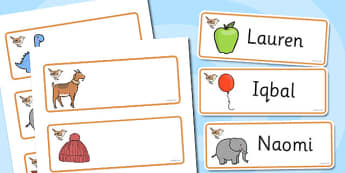 Wren Themed Editable Drawer-Peg-Name Labels - Themed Classroom Label Templates, Resource Labels, Name Labels, Editable Labels, Drawer Labels, Coat Peg Labels, Peg Label, KS1 Labels, Foundation Labels, Foundation Stage Labels, Teaching Labels