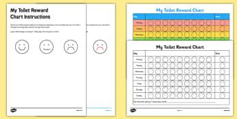 Toilet Training Reward Progress Chart - charts, chart, award, well done, reward, medal, rewards, school, general, achievement