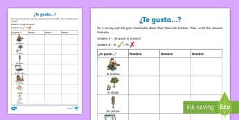 Favourite Hobbies Survey Speaking Activity - Spanish, Vocabulary, KS2, favourite, hobbies, free, time, activities, survey, asking, questions, act