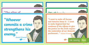 Daniel O'Connell Quotes Card Pack - Daniel O Connell, 19th century Ireland, History, Irish History, catholic emancipation, quotes, histo