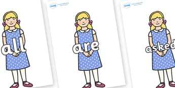 Tricky Words on Goldilocks - Tricky words, DfES Letters and Sounds, Letters and sounds, display, words