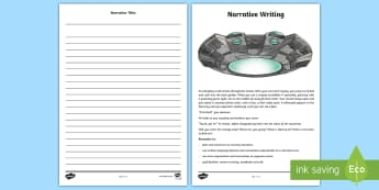 Father's Day Narrative Writing Activity Sheet - fiction, writing prompt, writing stimulus, writing, narrative, prose, creative writing, space,Austra
