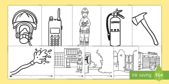 Taflenni Lliwio Gwasanaeth Tân - Wythnos Genedlaethol Diogelwch Tân, National School's Fire Safety Week, fire, tan, tân, fireman,