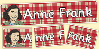 Anne Frank Display Banner - anne, frank, display banner, display