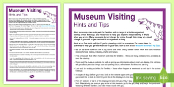 Museum Visit Top Tips - day trip, culture, history, family, visit, holidays