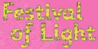 Festival of Light Display Lettering-festivial of light, display lettering, religion, religion themed lettering, festival of light themed