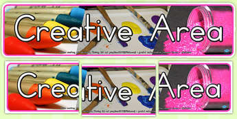 Creative Area Photo Display Banner (Australia) - banners, photos