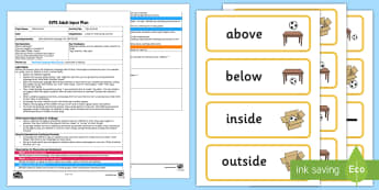 EYFS I Spy Position Adult Input Plan and Resource Pack - EYFS, Uses Positional Language, 30-50 months, Early Years, EYFS Planning, Adult Led, SSM, Space Shap