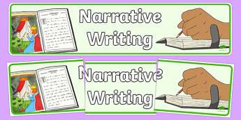 Narrative Writing Display Banner