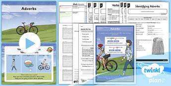 PlanIt Y3 SPaG Lesson Pack: Adverbs - planit, spag, lesson pack, lesson, pack, adverbs