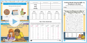 Year 3 Term 1B Week 5 Spelling Pack - Spelling Lists, Word Lists, Autumn Term, List Pack, SPaG