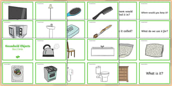 Household Objects Quiz Cards