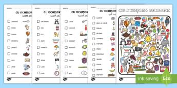 Cu ochișorii iscodesc Activitate - Cu ochișorii iscodesc  Activitate,Romanian, română, materiale, vocabular, comunicare, jocuri, act