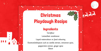 Christmas Playdough Recipe - christmas, playdough, recipe, eyfs