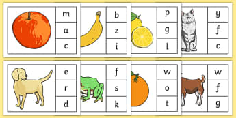 Initial Sounds Peg Matching Game - initial sounds, peg, matching, game, match, activity