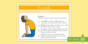 Yoga para niños: El camello - Yoga, posturas, yoga para niños, calmarse, relajarse, consciencia corporal, consciencia emocional,S
