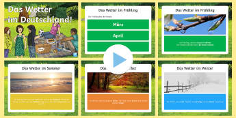 Das Wetter in Deutschland PowerPoint - Wetter, Deutschland, Deutsche Kultur, weather, DAF, DAZ,German