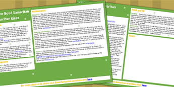 The Good Samaritan Lesson Plan Ideas KS1 - lesson plan, KS1, RE