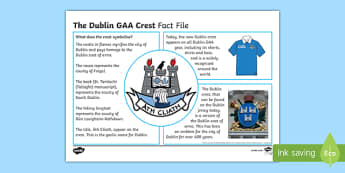 History of the Dublin GAA Crest Fact File-Irish
