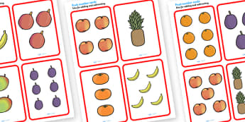 Handa's Suprise Fruit Number Cards - handas surprise, handa's surprise, handas surprise counting cards, fruit counting cards, fruit number cards