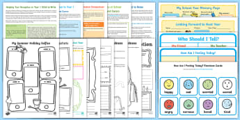 Moving to Year 1 Activity Pack - transition, leaving reception, key stage 1, KS1, parents, support, emotional support