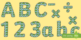 Tortoise themed Display Lettering - Tortoise Themed Size Editable Display Lettering, letering, displaylettering, display lettring, llett
