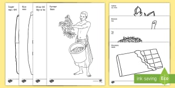 Fairtrade Colouring Pages English/Hindi - Fairtrade Colouring Sheets - fairtrade, colouring, colour, sheets, colering, colourng, couloring, EA
