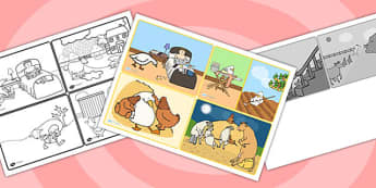 Farmer Duck Story Sequencing Cards - farmer duck, story sequencing, story sequencing cards, story cards, story ordering, story, story ordering cards, order