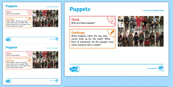 Toys: Puppets KS1 Exploration Sheet - toys, puppets, marionettes, imagination, KS1, Imagine (KS1)