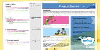 Computing: Using and Applying Skills Year 2 Planning Overview