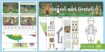 Childminder Hansel and Gretel EYFS Resource Pack - Grimm, traditional tale, fairy tale, sensory story telling, book themed learning