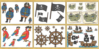 Pirate Size Ordering Activity - pirate size ordering, pirate size ordering activity, pirate, pirate ordering, cut out food, size ordering, size, ordering