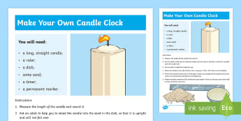 Make a Candle Clock Step-by-Step Instructions - candle clock, measures, time, step by step, instructions,