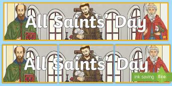 All Saints' Day Display Banner - november, christianity, Remembrance, religion, display,Irish