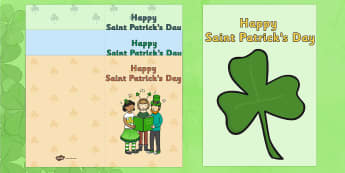 Saint Patrick's Day Greeting Card Templates - gaeilge, greeting cards, templates, Saint Patrick's Day, art, colouring