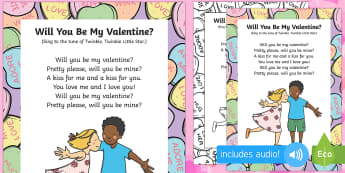 Will You Be My Valentine Song - Valentine's day, love, hearts, friend