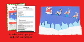 Santa And His Flying Sleigh Craft Adult Input Plan And Resource Pack