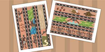 Kingdom of Benin: Yoruba Creation Display Borders